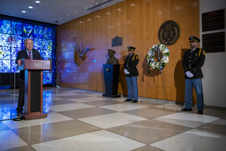 Wreath-laying Ceremony for Fallen UN Personnel aboard Ethiopian Airlines Flight