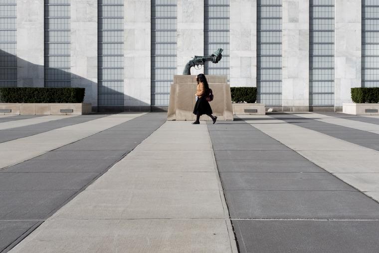 Scene at UN Headquarters in New York