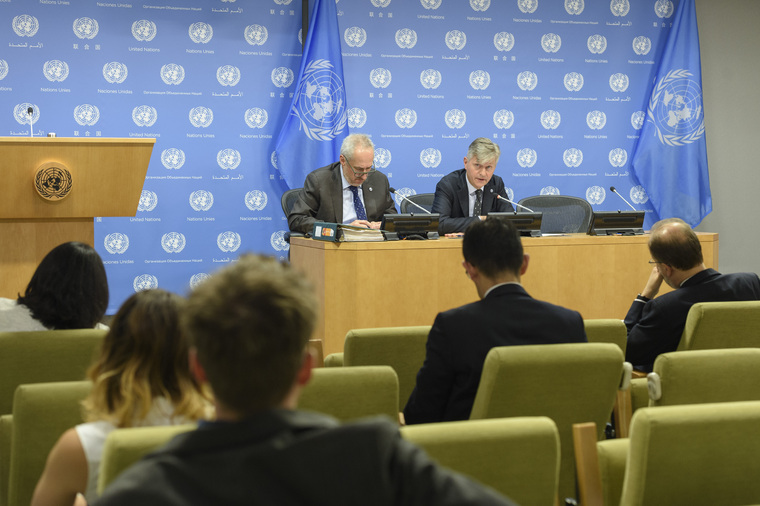 Peacekeeping Chief Briefs Reporters on Peacekeepers Day