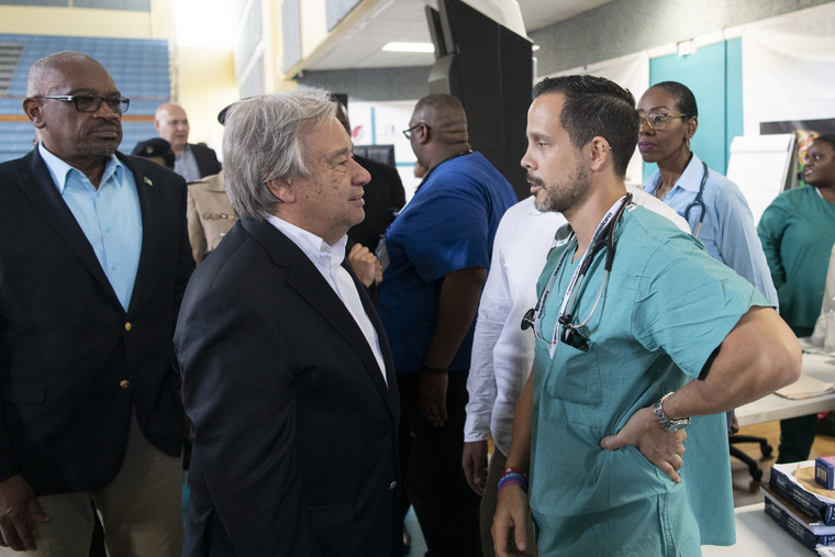 Secretary-General Visits The Bahamas