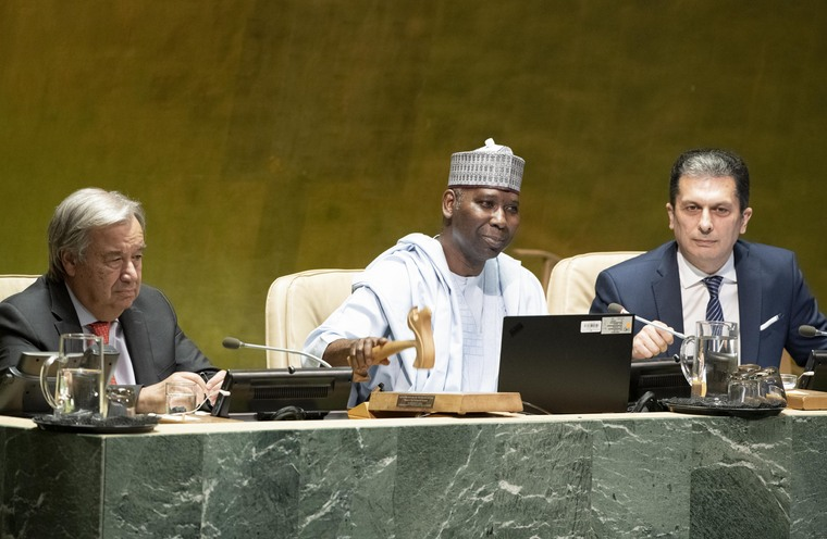 Opening of Seventy-fourth Session of General Assembly