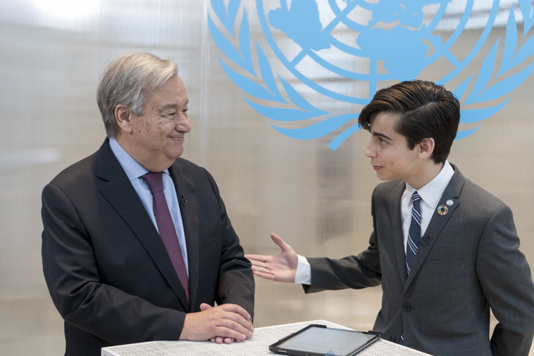 Instagram Live with Secretary-General and Aidan Gallagher