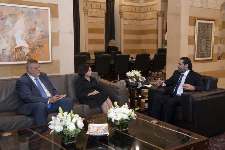 UN Officials Meet Prime Minister of Lebanon