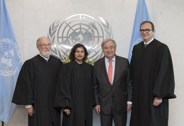 Secretary-General Swears in UN Appeals Tribunal Judges