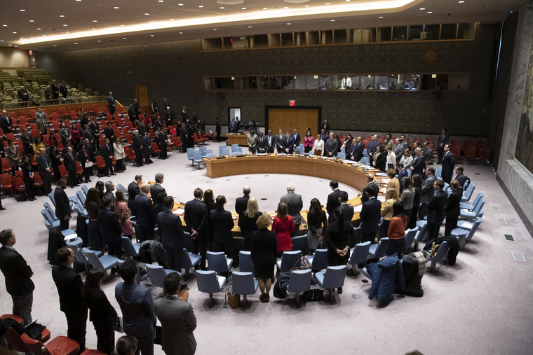 Security Council Observes Moment of Silence for Haiti