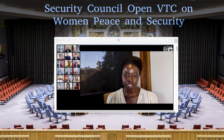 Security Council Hold Videoconference in Connection with Women and Peace and Security
