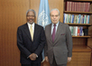 UN Secretary-General Meets with Former Secretary-General Javier Perez de Cuellar 2.856778