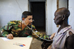 Bangladesh Military Doctor Attends to Patient in Sudan 4.2918587