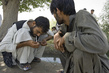 Afghan Men During Break from Drug Counselling Session 12.222933
