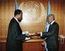 New Permanent Representative of the Republic of Cameroon Presents Credentials to Secretary-General 2.5646226