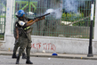 MINUSTAH Peacekeepers Disperse Demonstrators in Haiti 7.9754696