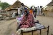 Sudanese Woman Displaced by War Seeks Shelter 7.8156433