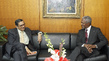 Secretary-General Meets with Professor From Columbia University 2.5779157