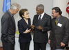 Secretary-General Meets with Participants in Middle East Humanitarian Art Initiative 2.5816817