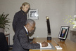 Secretary-General Signs Book of Condolence for Prince Claus of Netherlands 2.5816817