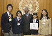 Secretary-General Meets with Peace Messenger Delegation from Yokohama, Japan 2.5495772
