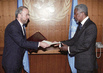 New Permanent Representative of the Islamic Republic of lran Presents Credentials to Secretary-General 2.4524806