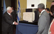 Foreign Minister of Israel Presents Gift of 4th Century Relic, to Mark Anniversary of Israel's Admission to the United Nations 2.3893783