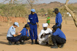 UNPol and DIS Officers Interview Sudanese Refugees 5.5185375