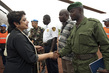 UN Special Envoy for Children and Armed Conflict Greets FARDC Commander 4.5771966