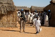 UNAMID Police Officer Patrols IDP Camp 4.549591