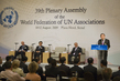 Secretary-General Addresses WFUNA Plenary Assembly 1.450124