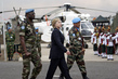US Secretary of State Escorted by MONUC Troops at Goma Airport 4.6172357
