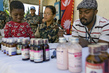 MINUSTAH Peacekeepers Distribute Medicine to Childen 3.0692985