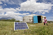 Mongolian Family Uses Solar Energy to Power Home 5.963609