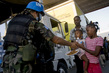 Bolivian Peacekeepers Distribute Water and Food 3.4347272