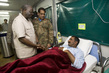 UNAMID Head Visits Officer Wounded in Ambush 1.4216207