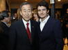 Secretary-General Meets Actor Orlando Bloom at Los Angeles Reception 9.531537