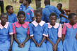 Schoolgirls at Malawi Millennium Village 10.705639