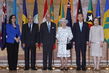 Secretary-General and Assembly President Meet U.K.'s Queen Elizabeth II 0.94455194