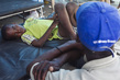 Boy Receives Treatment for Cholera in L'Estere, Haiti 1.2385201