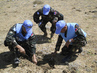 UNDOF Explosive Disposal Unit Uncovers Landmine in Syria 4.9640617