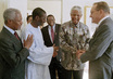 Secretary-General, General Assembly and Security Council Presidents Meet with Former President of South Africa 9.775695