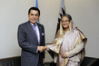 General Assembly President Meets Prime Minister of Bangladesh 1.0732433