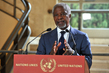 Joint Special Envoy Annan Briefs Press in Geneva 13.065063