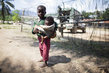 DRC Children Seek Refuge near UN Mission after Heavy Fighting 4.4500446