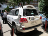 UN Convoy Attacked by Angry Crowd in El-Haffeh, Syria 13.166048