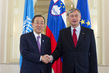 Secretary-General Meets President of Slovenia 2.2586844