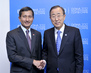 Secretary-General Meets Singapore Environment Minister at Doha 1.6657693