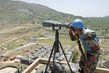 "UNIFIL Peacekeeper Monitors ""Blue Line"" Demarcation Between Israel and Lebanon 1.0"