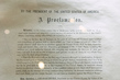 Original Signed Copy of Emancipation Proclamation at UNHQ for Slavery Exhibit 16.567772