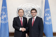 Secretary-General Meets Permanent Representative of Peru 2.8552313