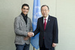 Secretary-General Meets UNRWA Youth Ambassador and Arab Idol 2.8557384