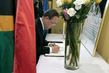 Secretary-General Signs Mandela Condolence Book 9.483472