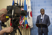Foreign Minister of Central African Republic Briefs Press 0.6384112