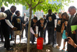 UN Celebrates Nelson Mandela Day, Tends to Newly Planted Trees 4.457862